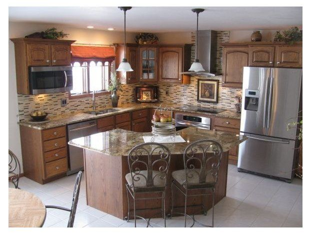 Corner Kitchen Island Ideas Cute Corner Kitchen If You Don T Have A Lot Of Space To Work With Kitchen Design Small Kitchen Remodel Small Kitchen Layout