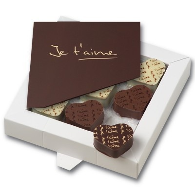 Je t'aime Collection with Chocolate Card - photo