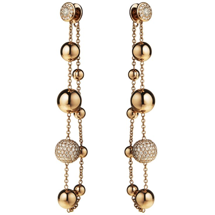 Crivelli / Orecchini pendenti in oro rosa con diamanti