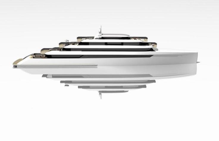 Van Geest Design present 90m Open Yacht Concept