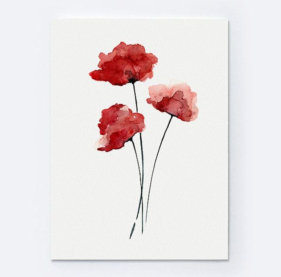 Red Poppy Minimalist Painting. Flowers Gift Idea For Her. Watercolor Illustration Red Home Decor. Floral Poster Living Room Decor. Abstract Poppy Giclee Art Print. Type of paper: Prints up to (42x29,7cm) 11x16 inch size are printed on Archival Acid Free 270g/m2 White Watercolor Fine