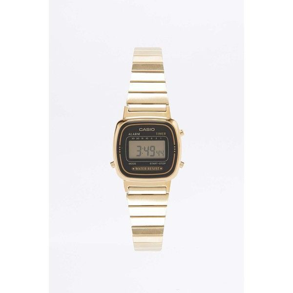 Casio Black Mini Face Watch ($86) ❤ liked on Polyvore featuring jewelry, watches, alarm wrist watch, casio, casio watches, digital wristwatch and digital watches