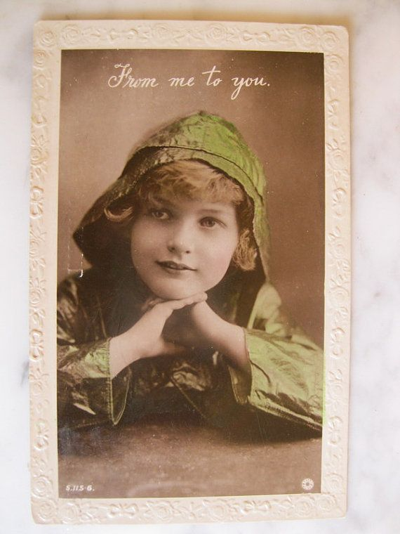 Antique Photo postcard. From me to you. 1930 era by grandma62