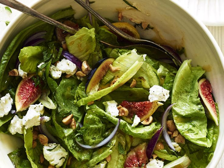Crunch, sweetness, and a touch of richness--this recipe has everything you want in a salad. Dress the greens separately, then tuck in the...
