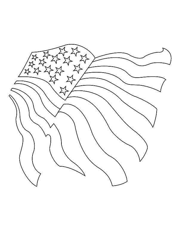 Independence Day Drawing American Flag For Independence Day