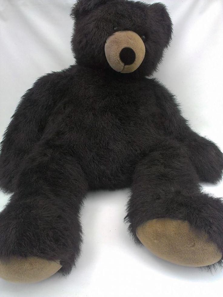 "AURORA Plush JUMBO Teddy Bear SUPERSIZED Gentle Giant HUGE 52"" Animal Grizzly #Aurora"