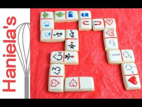 Valentine's Day Domino Cookies, Geeky Style http://www.youtube.com