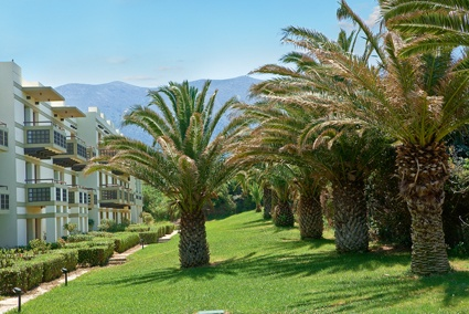 Meli Palace accommodation among exotic gardens