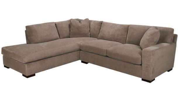 Max home debut debut 2 piece sectional jordan39s for Sectional sofas jordans