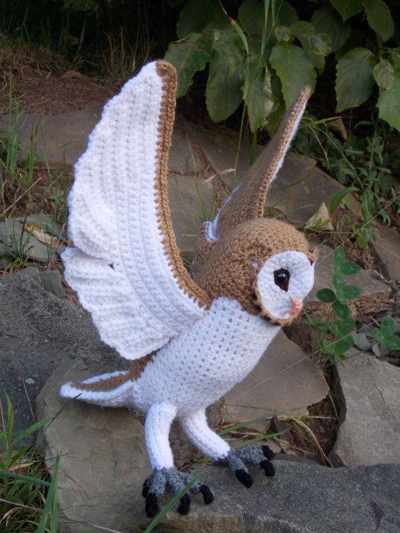 Amigurumi Barn Owl : Crochet Barn Owl Pattern PDF by GreatGreyCrochet on Etsy ...