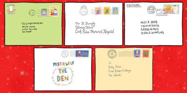 Large A2 The Jolly Christmas Postman Envelopes - envelopes, a2