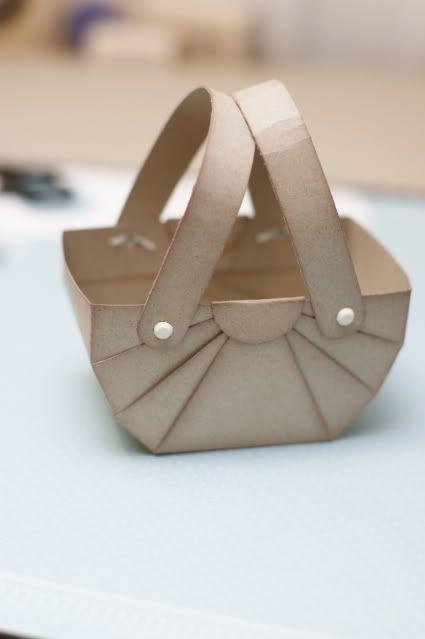 make paper mini basket craft