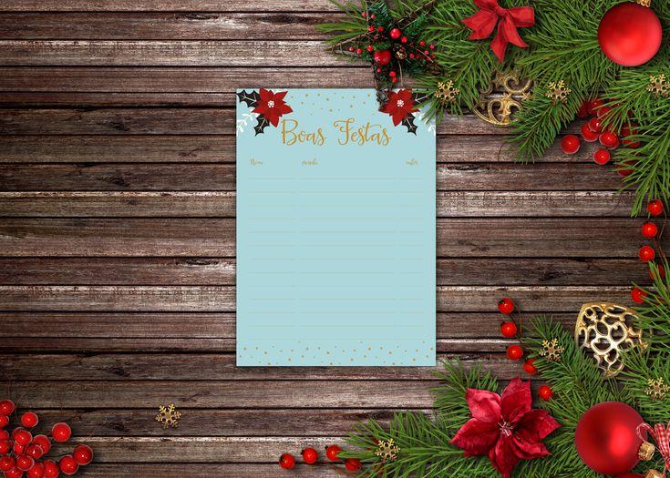 Esta semana podemgratuitamente descarregar este pdf e imprimir esta lista de natal, onde podem apontar o nome, o que pretendem comprar e qual o valor gasto, guardem-na e e para o ano sabem o que o…