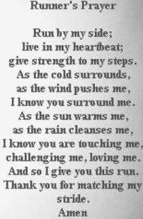 There have been many runs where I didn't think I could make it home, and then out of nowhere, there is a wind at my back, like a hand placed there, and then I know, yes, I can!  With tears in my eyes, I give thanks and run my hardest!!
