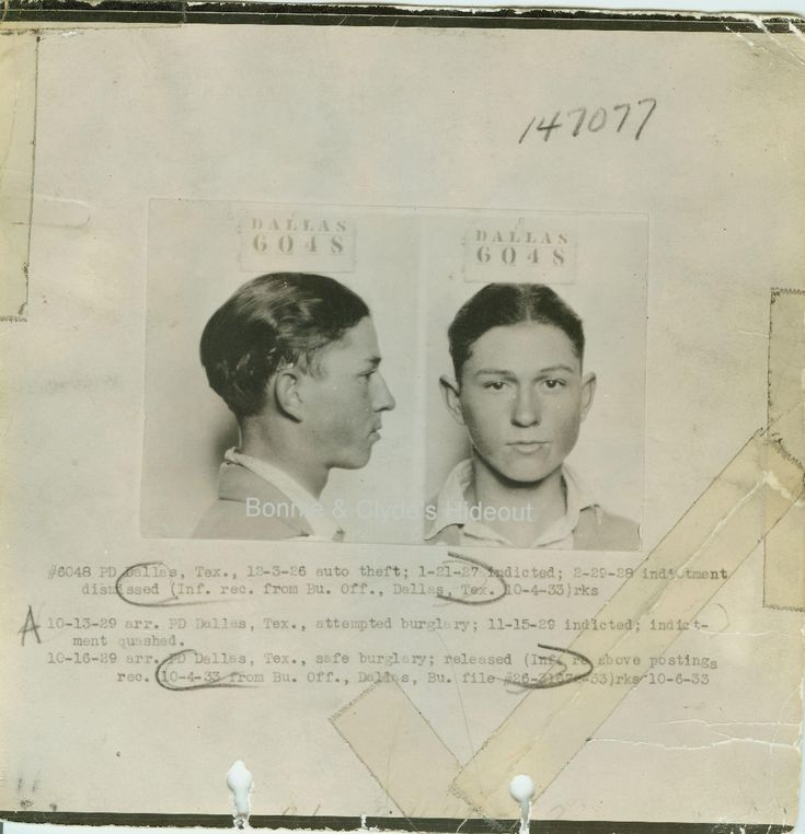 Clyde's mug shot | Chasing Bonnie and Clyde | Pinterest ...