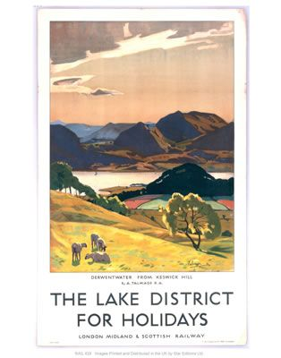 Lake district on VintageRailPosters.co.uk Prints