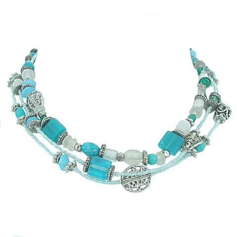Turquoise and silver necklace – Jc & Crew