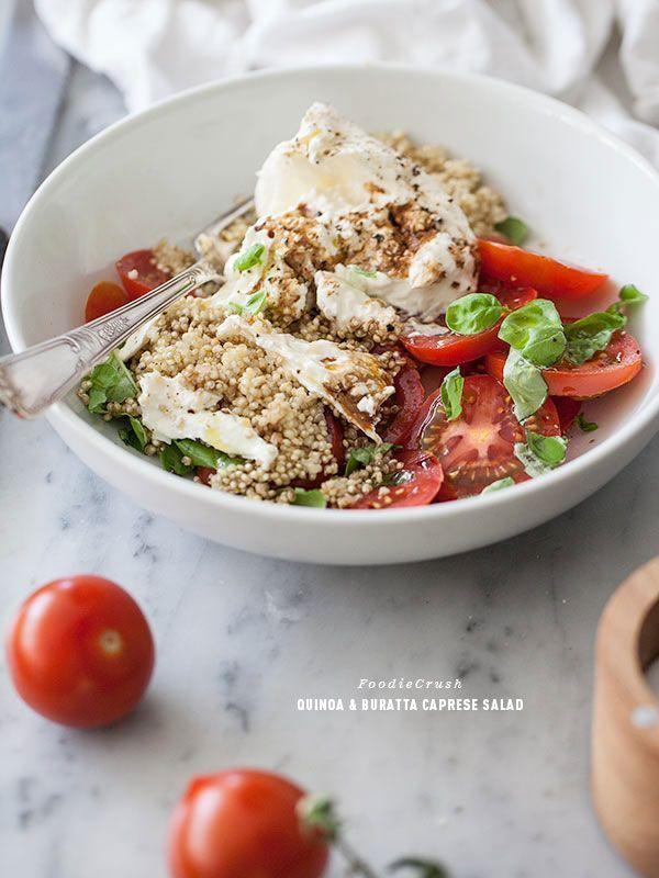 Quinoa Buratta Caprese Salad via @Heidi Haugen Haugen | FoodieCrush I am so in love with this salad!