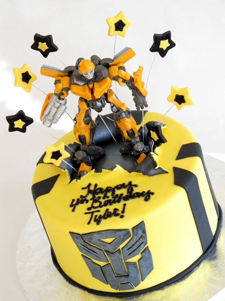 Happy Cakes Bakes: Transformers Bumblebee Cake