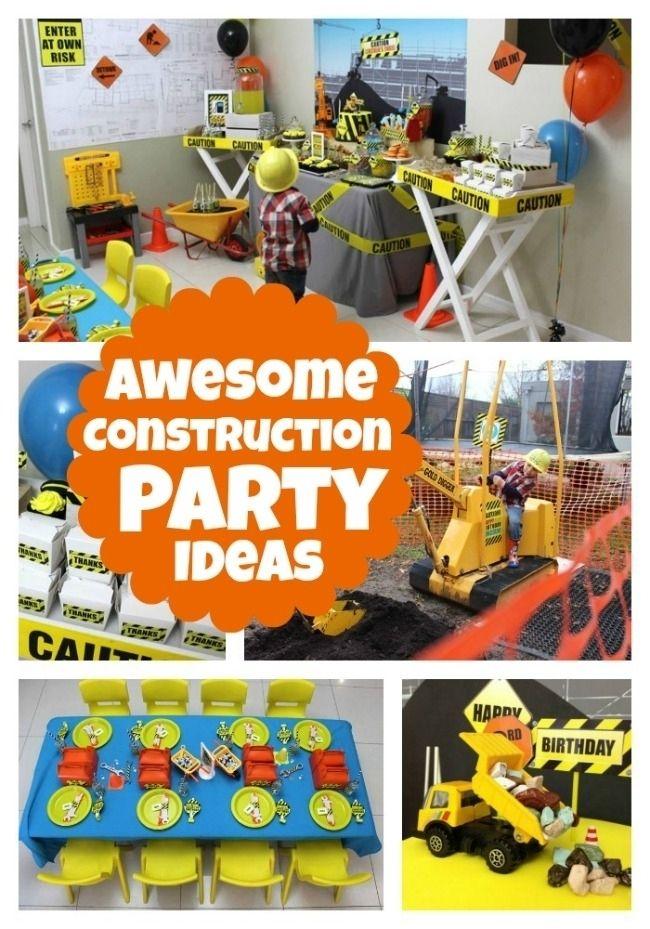 45 Construction Birthday Parties www.spaceshipsandlaserbeams.com