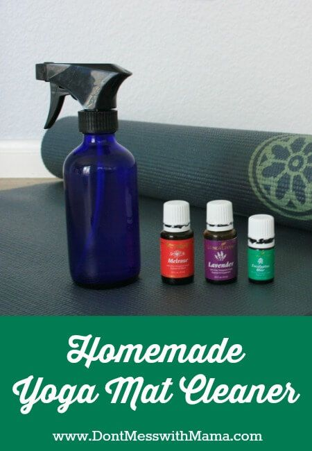 How to Clean a Yoga Mat Naturally - get the stink out of your favorite yoga mat without the harsh chemicals of store-bought cleaners - DontMesswithMama.com