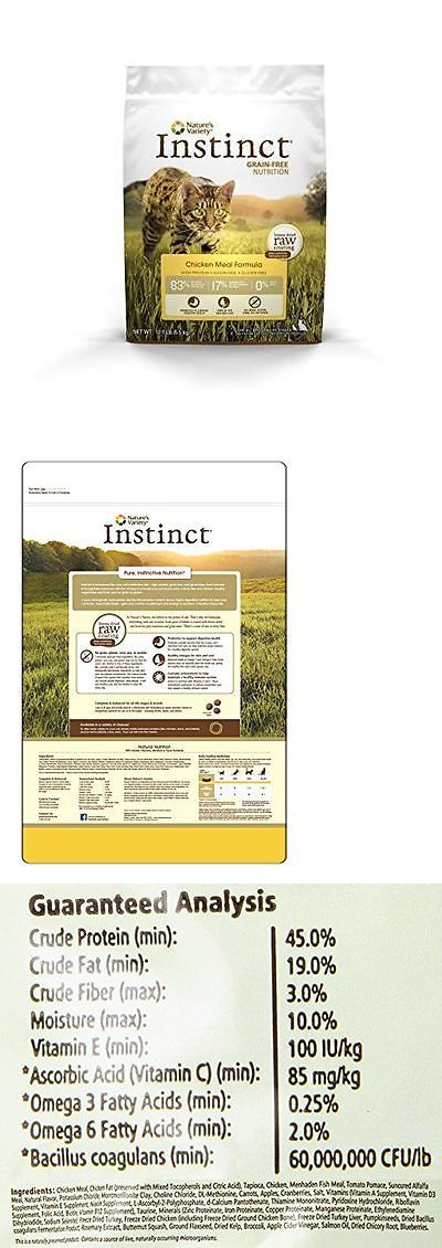 Cat Food 63073: Natures Variety Instinct Grain Free Chicken Meal Formula Dry Cat Food, 12.1 New BUY IT NOW ONLY: $42.32