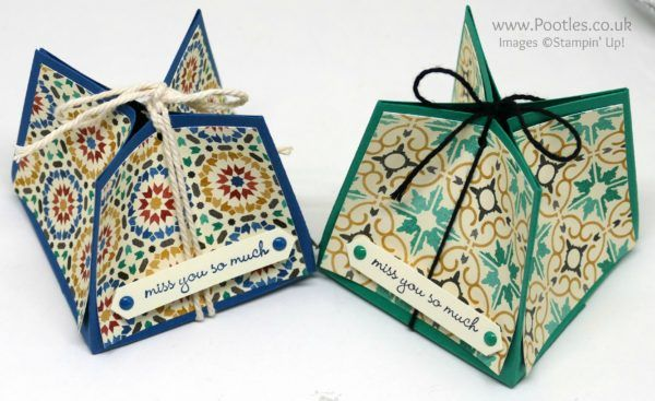 Stampin' Up! Demonstrator Pootles - Gorgeous Box using Moroccan Paper Cute Top