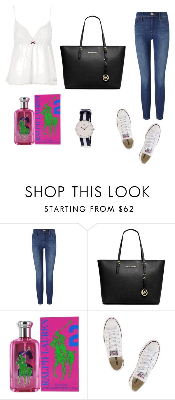 """""""Outfit #8"""" by mariachun on Polyvore featuring Frame Denim, MICHAEL Michael Kors, Ralph Lauren and Converse"""