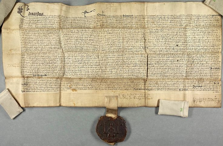 1547-One of Edward VI's, earliest documents—Letters Patent confirming a decree of the Court of Augmentations— relating to several dissolved monasteries and convents in the Diocese of Worcester.
