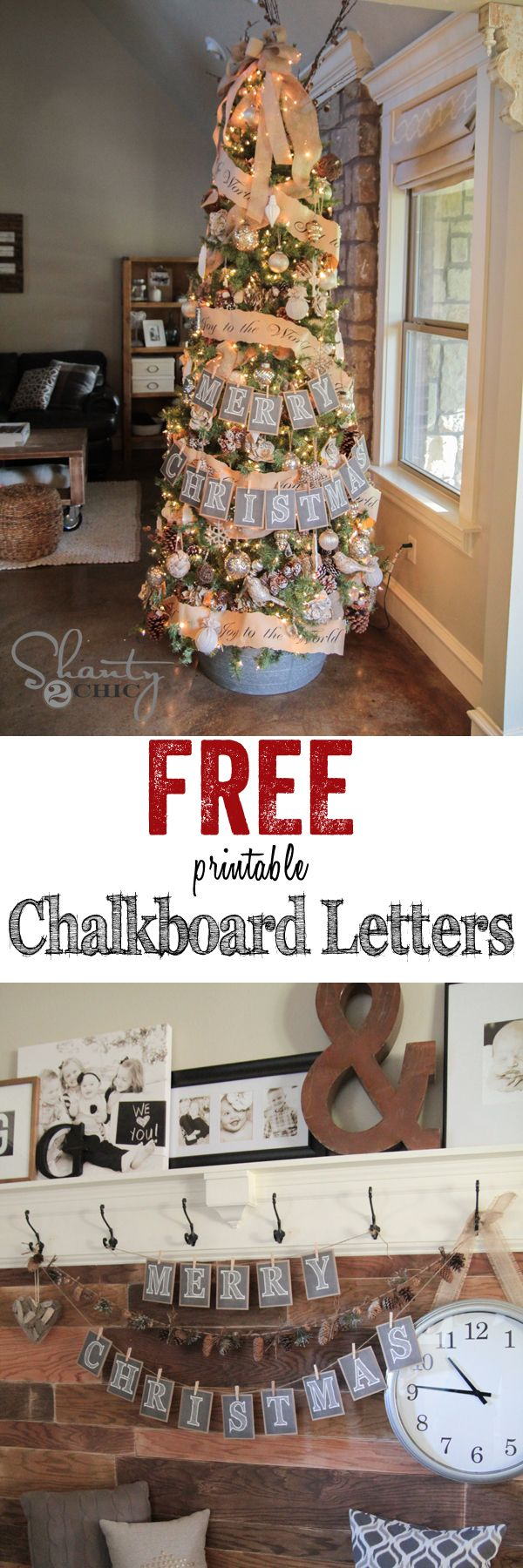 FREE Printable Chalkboard Letters! The entire alphabet... These are perfect all year long!!