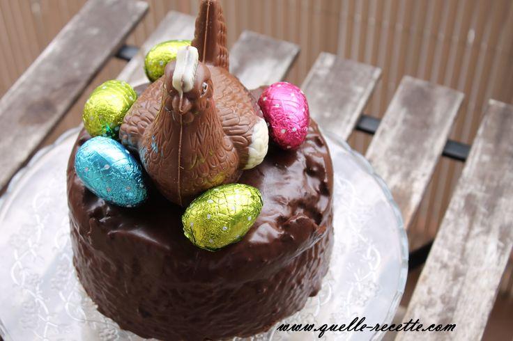 Gâteau facile au chocolat spécial Pâques