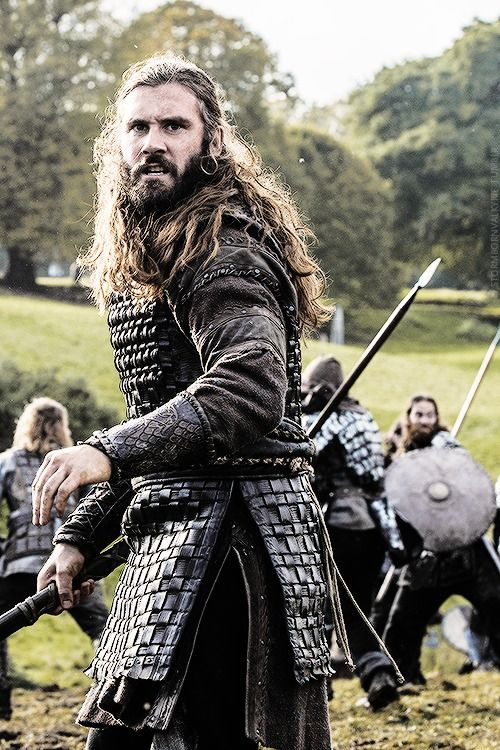 "Rollo. Vikings. The ""real"" Rollo invaded France, attained lands and became the first Duke of Normandy. His  descendent, William the Conqueror,  invaded England and his lineage were then the Kings of England."