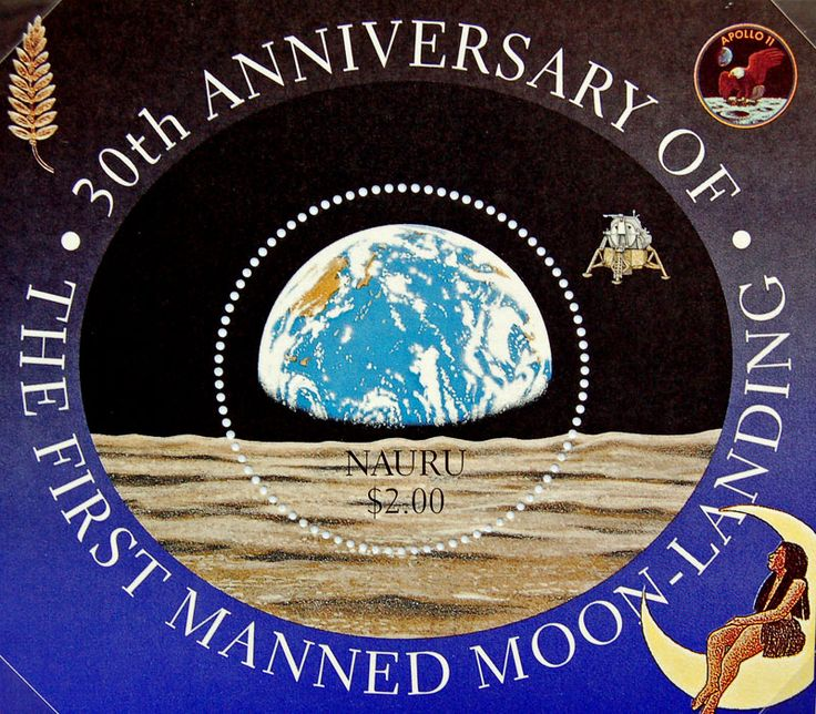 Nauru  1999  30th Anniversary of the First Manned Moon Landing