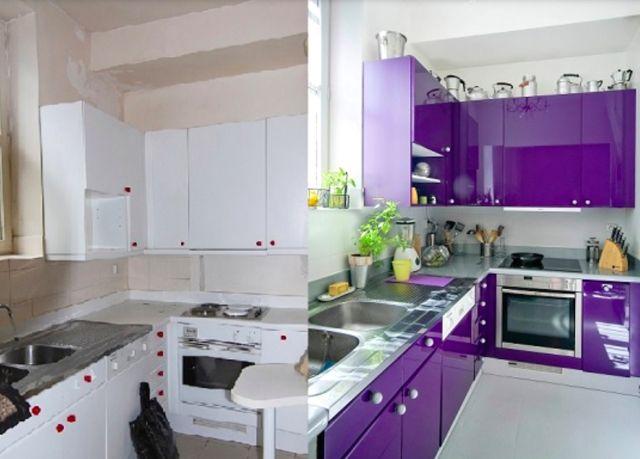 Pinta los muebles de la cocina para renovar tus armarios por poco dinero y darles estilo.