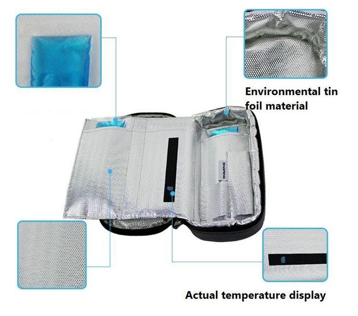 2016 Saco Do Refrigerador Portátil de Insulina Insulin do Diabético Caso de Viagem Mais Frio de Refrigeração Caixa de exibição Bolsa Termica 4-24 graus centígrados