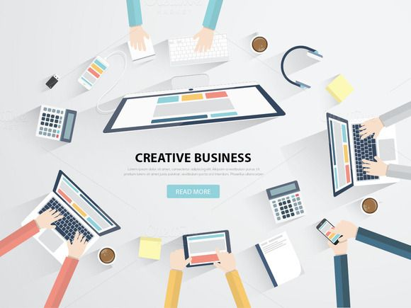Creative Business Meeting Vector by Infographic Template Shop on Creative Market