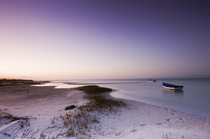 The pastel shades of the Langebaan Lagoon make for fabulous photographs in the West Coast National Park, South Africa.
