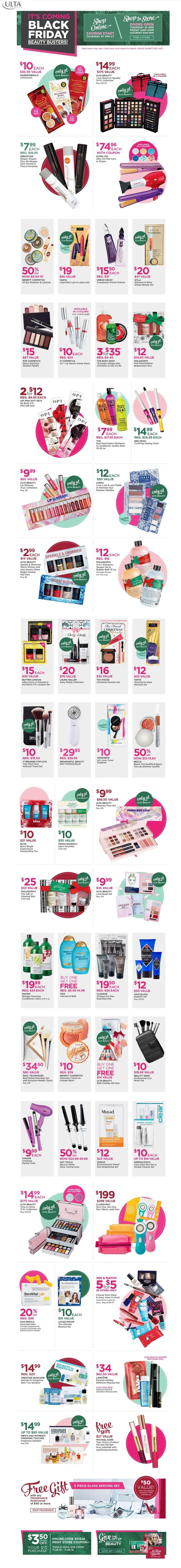 ULTA Black Friday 2015 Deals!! Lots to see and buy for the Holidays!
