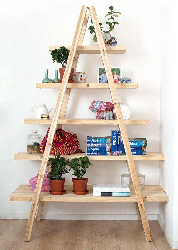 Adapte materiais e crie suas próprias prateleiras e estantes