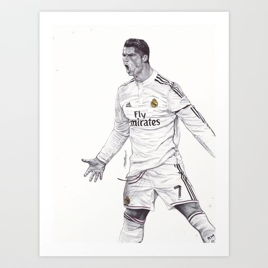 #CR7 Cristiano Ronaldo PRINT Free Worldwide Shipping & 20% OFF until Midnight PT!  https://society6.com/product/cr7-drawing_print