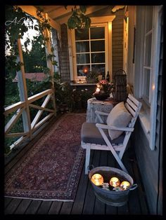 Love nights like this! Porch living.