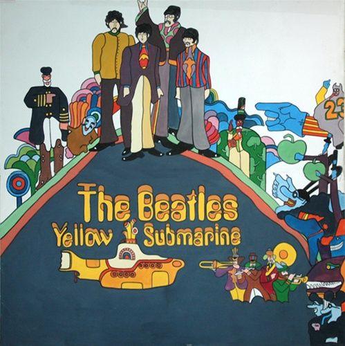 Beatles Album Cover Yellow Submarine Art As Album