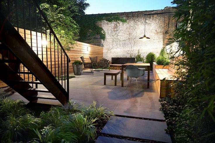 Great aesthetic. Bedford Stuyvesant Brownstone Landscape Project || NYC Garden Design