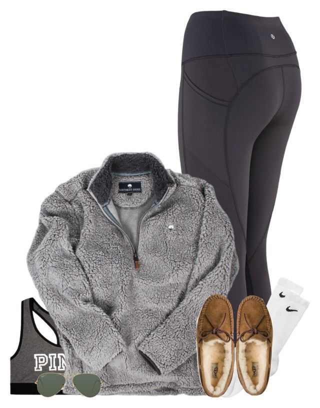 so bored by conleighh on Polyvore featuring Victoria's Secret, UGG Australia, Ray-Ban and NIKE