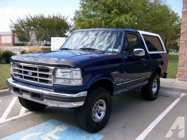 1996 ford bronco xlt for sale in carrollton texas dream broncos. Cars Review. Best American Auto & Cars Review
