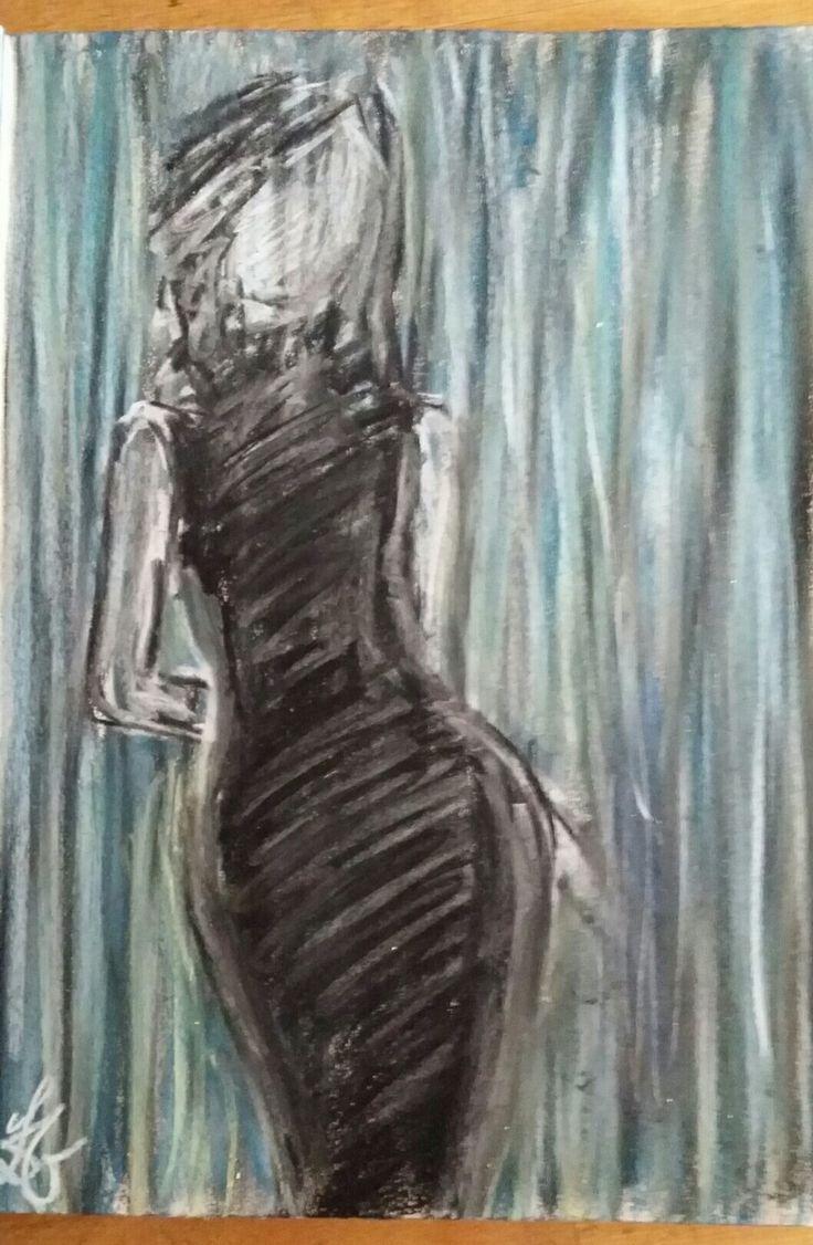 Figure drawing - chalk Figuratief - krijt tekening