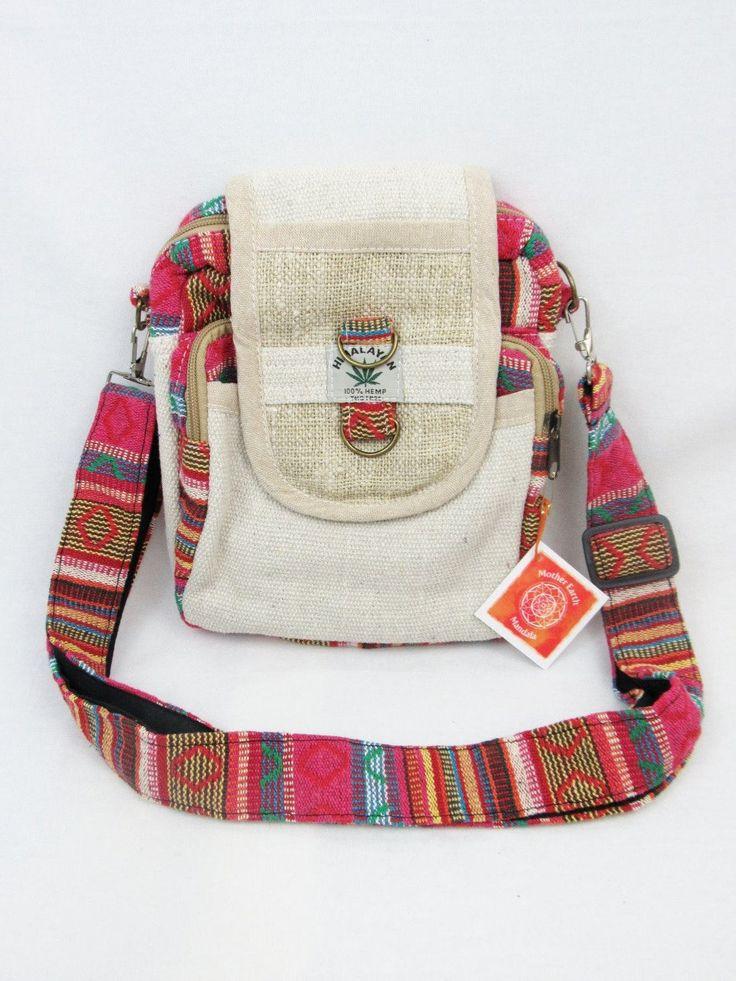 Hemp purse Travel purse Camera bag Travel purse by Motherearthmandala on Etsy