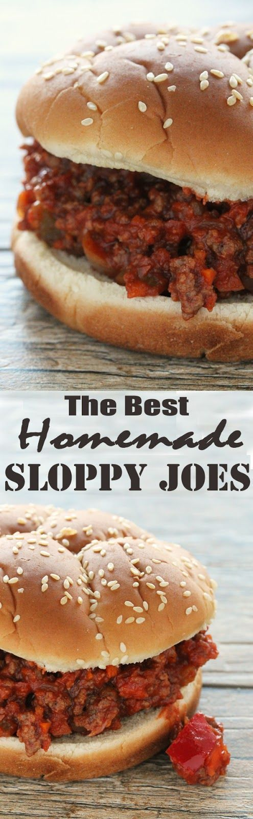 The Best Homemade Sloppy Joes Ever from The Stay At Home Chef