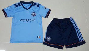2017-18 Cheap Youth Kit New York City FC Home Replica Football Shirt [JFCB799]