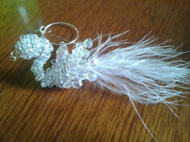 Seed bead swan